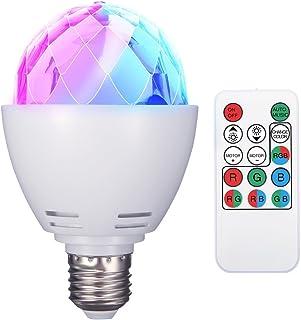 ELEGIANT diskokula E27 RGB LED partybelysning ljuseffekter scenlampor glödlampor festljuslampa fjärrkontroll för födelseda...