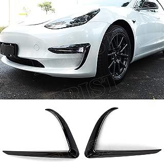 KERIST Glossy Black Front Bumper Side Canards Splitter Spoiler for Tesla Model 3 2016-up Car Styling