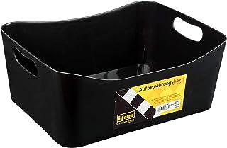 Idena Boîte de Rangement en Plastique Robuste pour Ranger l'ordre à la Maison et au Travail, env. 32 x 25 x 15 cm Noir