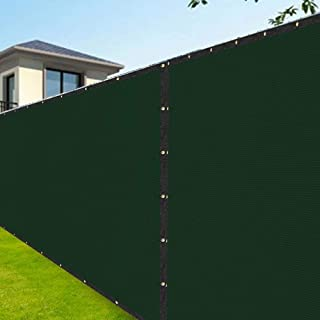 Amagabeli 8'x50' Fence Privacy Screen Heavy Duty for Chain Link Fence Fabric Screen with Brass Grommets Outdoor 8ft Garden Patio Construction Fencing 90% Blockage Shade Tarp Mesh UV Resistant Green