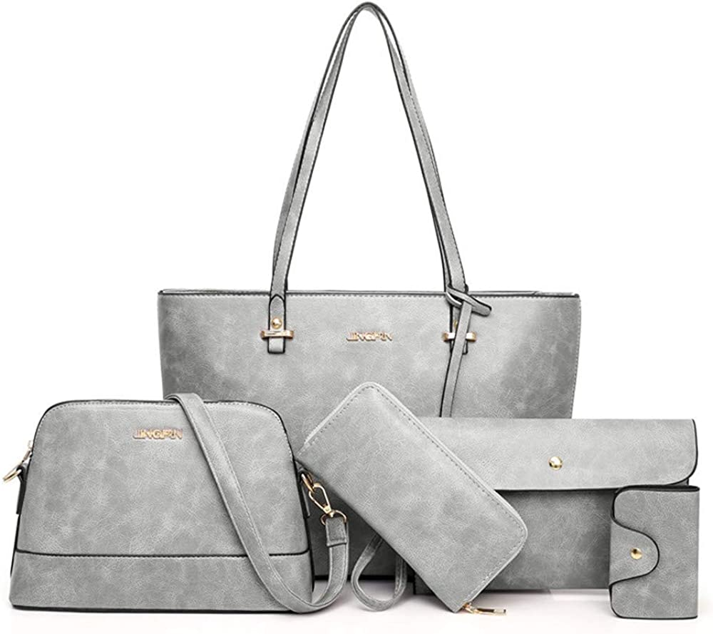 Handbag Set for Max 67% OFF Women All stores are sold 5 Pack Handbags Purse PU Tote Leather
