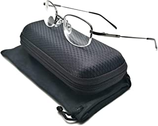 Nearsighted Myopia Glasses, Driving Outdoor Cell Phone Computer Reading Glasses, Men & Women (Strength: -1.5) + Free Hard Case Storage