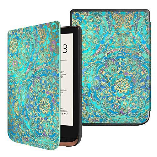 Fintie Hülle für Pocketbook Touch HD 3 / Touch Lux 4 / Touch Lux 5 / Basic Lux 2 / Color (2020) e-Book Reader - Ultradünne Schutzhülle mit Auto Aufwachen/Schlafen, Magnetverschluss, Jade