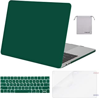 MOSISO MacBook Pro 15 inch Case 2019 2018 2017 2016 Release A1990 A1707, Plastic Hard Shell Case&Keyboard Cover&Screen Protector&Storage Bag Compatible with MacBook Pro 15 Touch Bar, Peacock Green