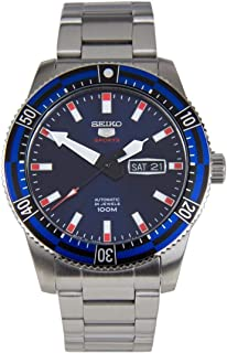 SRP731J - Seiko 5 Sports Automatic, 24 Jewels, calendar, 100m Water Resistant, Blue Dial, Stainless Steel, Silver