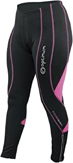 Optimum Women's Nitebrite Cycling Leggings, Womens, Black/Pink
