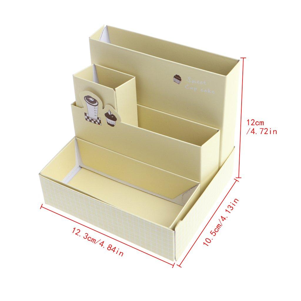 Caja de almacenamiento de cartón para decoración de escritorio, maquillaje, cosméticos, para manualidades, papelería, oficina, almacenamiento de utensilios de oficina: Amazon.es: Oficina y papelería