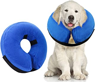 Best AhlsenL Inflatable Comfy Cone for Dogs Cats Protective Soft Pet Recovery Collar After Surgery Prevent Dogs from Biting & Scratching Review