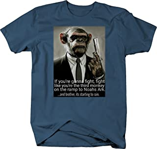 Fight Like The Third Monkey Trying to get on Noahs Ark Suit Gun Pistol