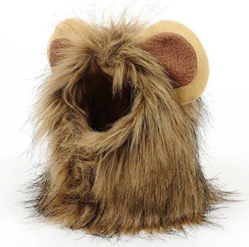 Perruque crinière de lion pour animal domestique - Pour chien et chat - Cadeau idéal