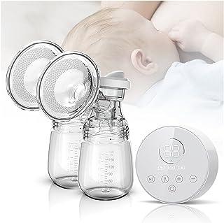 Breast Pump Electric Breast Pump Charged By USB Mute Protable Dual Breastfeeding Milk Pump Baby Breastfeeding Milk Extract...