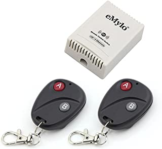 eMylo DC 12V 2CH 433Mhz RF Wireless Relay Remote Control Light Momentary Switch Transmitter with Receiver