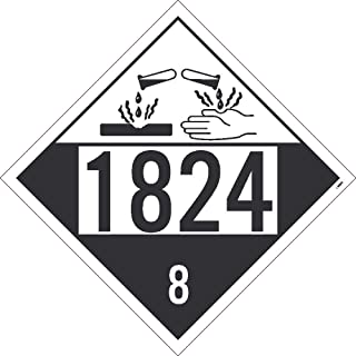 NMC DL147BPR50 1824 8 Dot Placard Sign