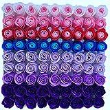 TTBD 81Pcs Mezcla de Color Rose Bath Body Flower JabóN Floral Perfumado Rose Flower DIY Regalos para el DíA de San ValentíN Wedding Party 3