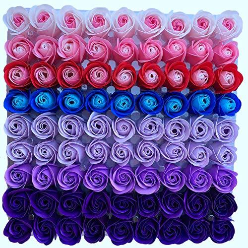 Cuasting 81 pz miscelazione di colore rosa corpo fiore sapone floreale profumo rosa fiore fiore regali fai da te per San Valentino festa di nozze 3