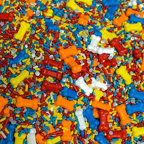 Dog Bones Edible Confetti Sprinkles Cake Decoration Cookie Cupcake Ice Cream Donut Quins - 6oz