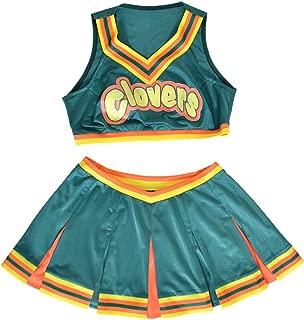 Women's Cheerleader Cosplay Costume Top Skirt