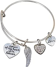 Infinity Collection Memorial Jewelry, Memorial Bracelet, A Piece of My Heart is in Heaven Bangle Bracelet