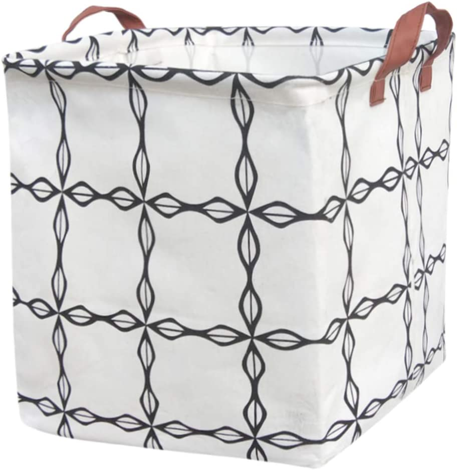 BOOHIT Square Storage Box Basket S Direct stock discount Fabric Collapsible Toy 70% OFF Outlet Canvas