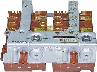Kochplattenschalterblock 2er-Einheit YH80-1//50bI links 00496803 496803
