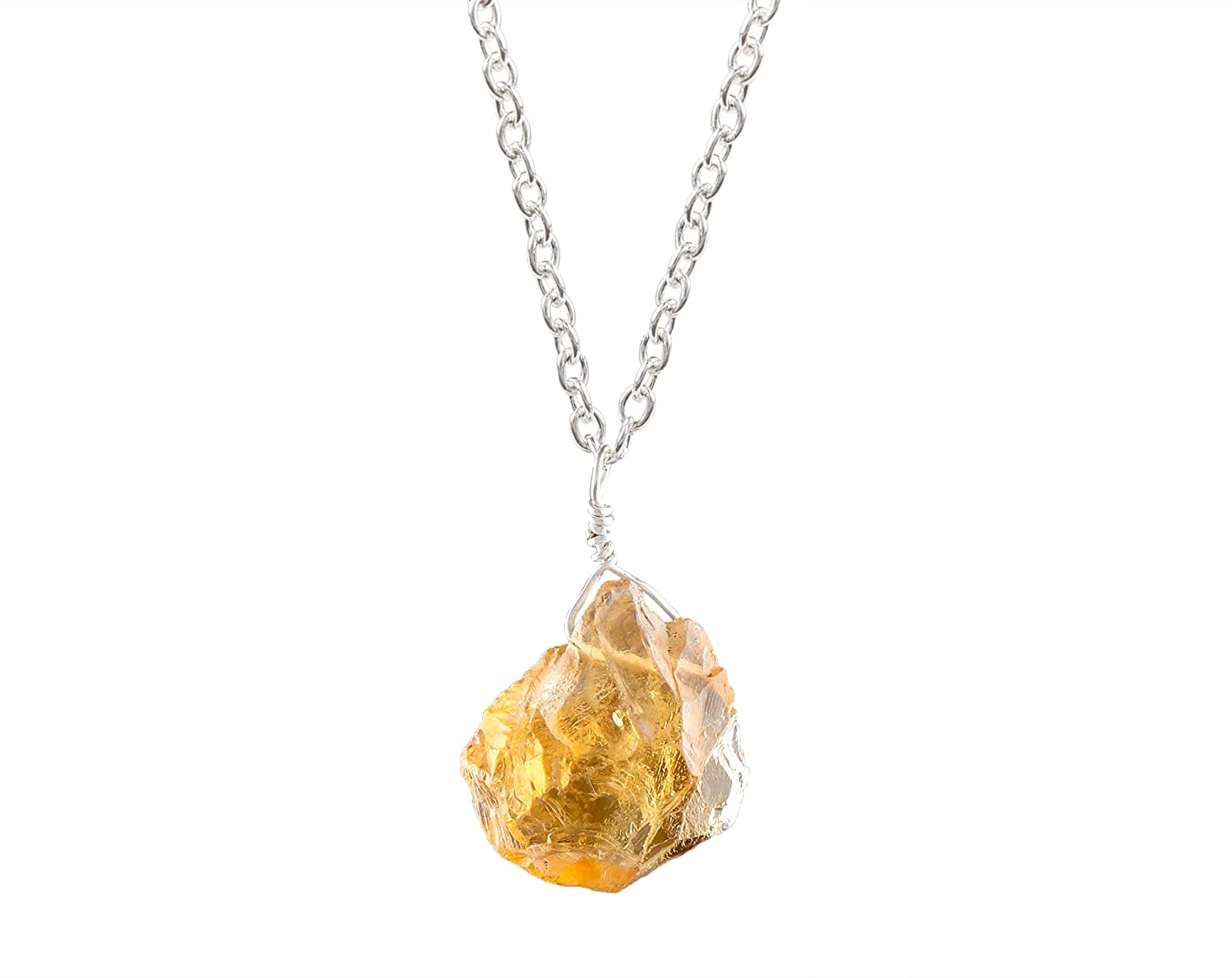 Max 73% OFF Dainty Raw Citrine Necklace in Sterling Silver inch Ranking TOP20 18 November