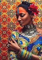 アブストラクトアートアフリカンキャラクターイメージ壁画オイルペインティング、ファミリールームデコレーションペインティング(写真7)
