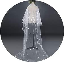 Wedding Dress Veils White Flowers Super Long Bridal Hair Veil Bride Fairy Marriage Accessories