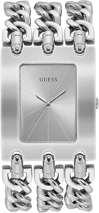 Orologio analogico da donna guess , in metallo pesante, con cinturino in acciaio inossidabile W1274L1