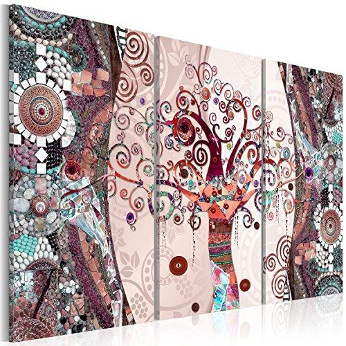 murando - Cuadro en Lienzo 120x80 cm Mosaico - Impresión de 3 Piezas Material Tejido no Tejido Impresión Artística Imagen Gráfica Decoracion de Pared - Gustav Klimt Baum l-C-0002-b-g