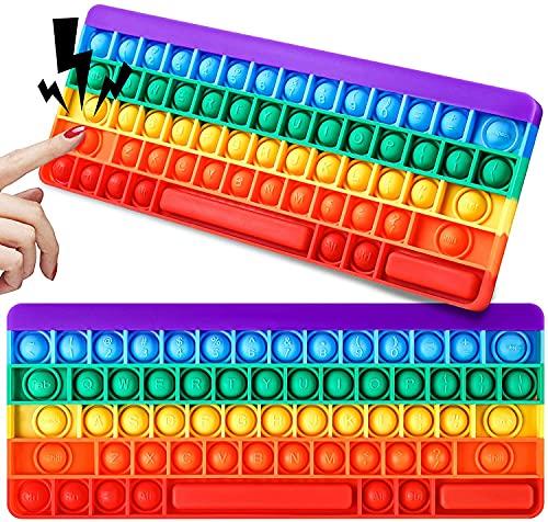 Pop it Fidget Regenbogen Tastatur