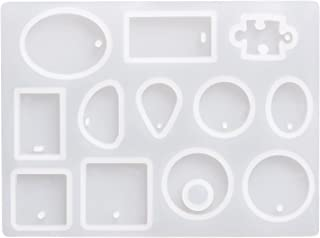 【JLM-Waroom】 Resin Perforated Silicone Mold  Necklace Accessory Parts Pendant Mold  Resin Type
