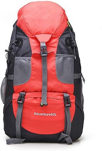 WANZIJING 50L Alpinisme Sac à Dos supérieur imperméable en Nylon Décontracté Daypacks pour Homme Femmes randonnée Camping Chasse Trekking Sac à Dos