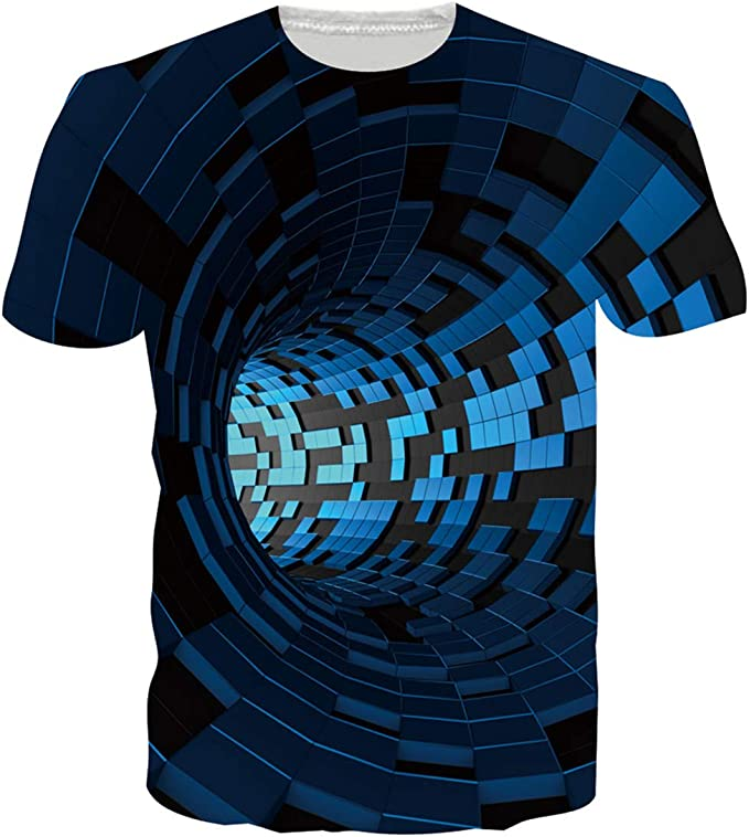 2084 opinioni per Loveternal Unisex T-Shirt 3D Stampato Magliette Uomo Divertenti Manica Corta