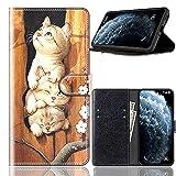 Sinyunron Klapptasche für Handy Wiko Upulse Hülle Leder Handytasche Handyhülle Brieftasche Hüllen Hülle mit Kartenfach & Ständer/Hülle06A