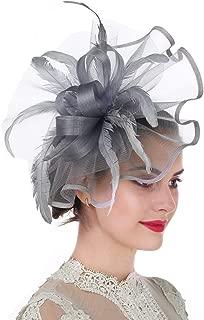 Girl Lady Hat Headwear Organza Church Feather Clip Fascinators Hat Wedding Party Kentucky Derby Cap for Women
