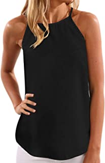 YOINS Top Damen Sommer Sexy Ärmellos Shirt Crop Tops Damen Mode Rundhals Bluse Mode Camisole Tank