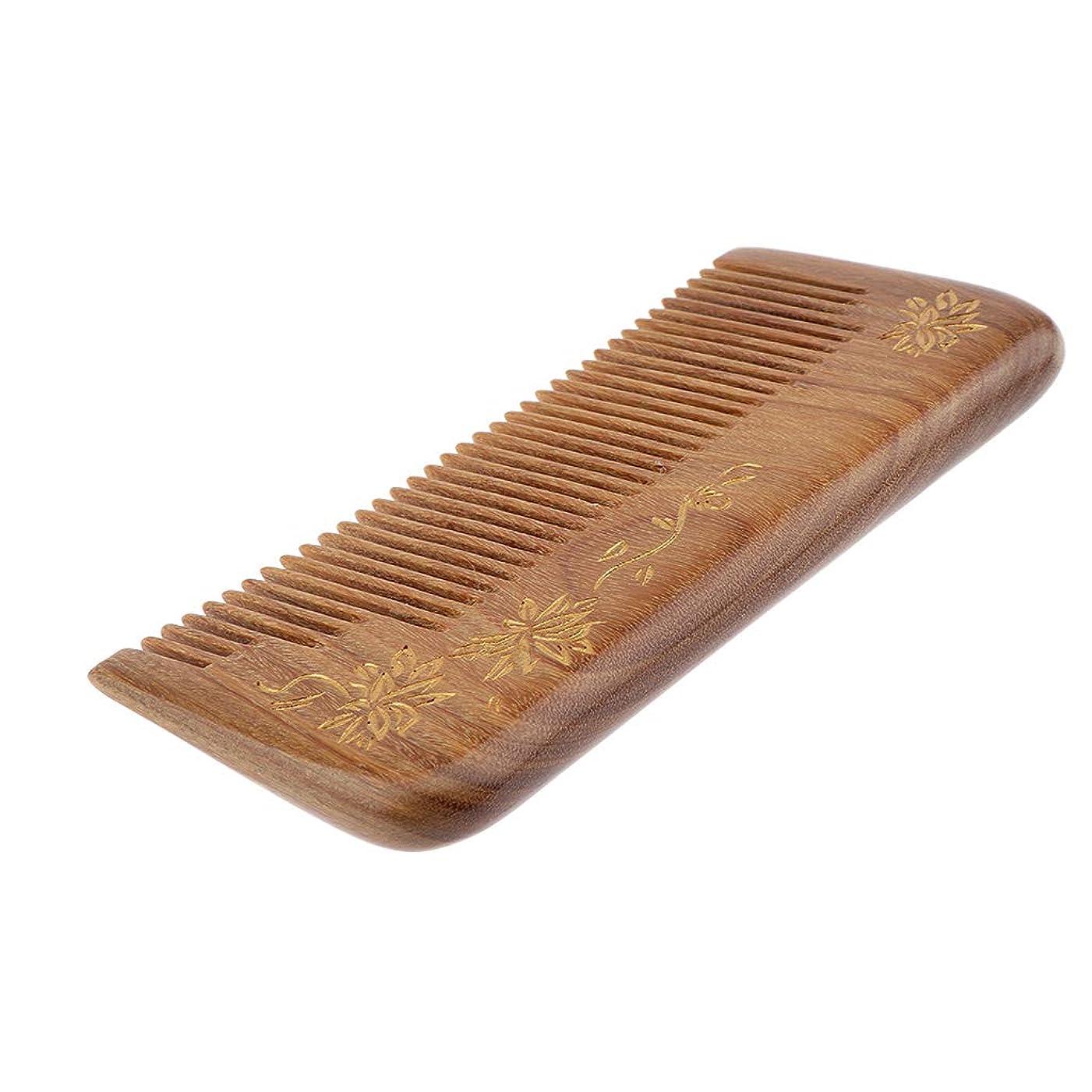 前書きアーサー落ち込んでいるF Fityle 帯電防止櫛 ヘアブラシ 木製櫛 広い歯 自然な木 マッサージ櫛 プレゼント 4仕様選べ - #3