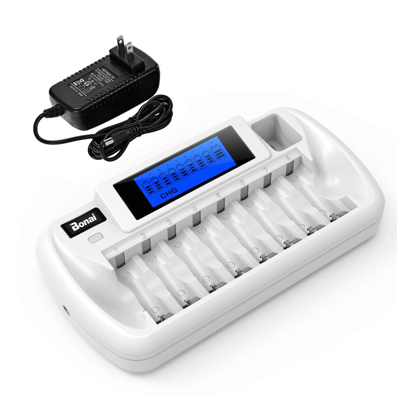 BONAI Battery Charger Rechargeable Batteries