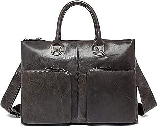 """Mens Bag 14"""" Laptop Netbook Tablet Business Men's Leather Briefcase Messenger Crossbody Shoulder Handbag Bag High capacity"""