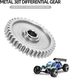 Leslaur Metal 38T Differential Gear Crown Gear Reduction Gear for WLtoys 1/18 A959 A979 A969 RC Car
