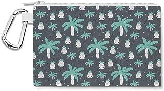 Cute Kawaii Palm Trees Canvas Zip Pouch - Multi Purpose Pencil Case Bag
