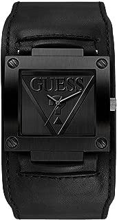 Black Genuine Leather Cuff Watch. Color: Black (Model: U1166G2)