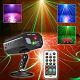 Party Light Disco DJ Light,Stage Light with Sound Activated and Remote Control Multiple Patterns Light Projector Laser light for Birthday Bar Club Wedding Christmas KTV Karaoke Festivals