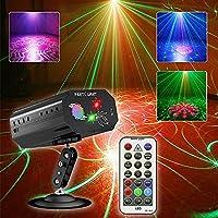 Party Lichter haben eine Hintergrundfunktion als andere ähnliche Produkte. Es hat 3 Linsen, projiziert rote und grüne Muster mit farbenfrohen LED-Hintergrund, solche Multi-Effekt-Kombination, um eine mehr Stereo-Atmosphäre zu schaffen. Lassen Sie sch...