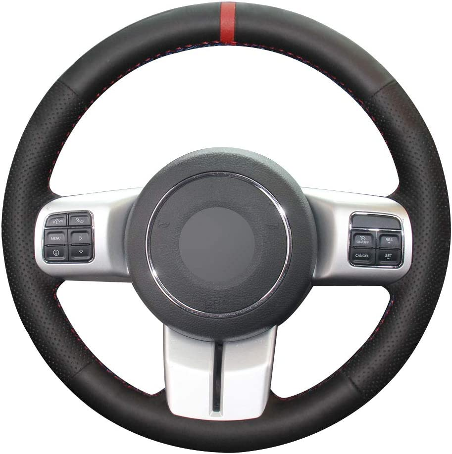 Eiseng DIY Stitching Steering Wheel Cover Daily bargain Fees free!! sale Jeep for Wrangler Patr