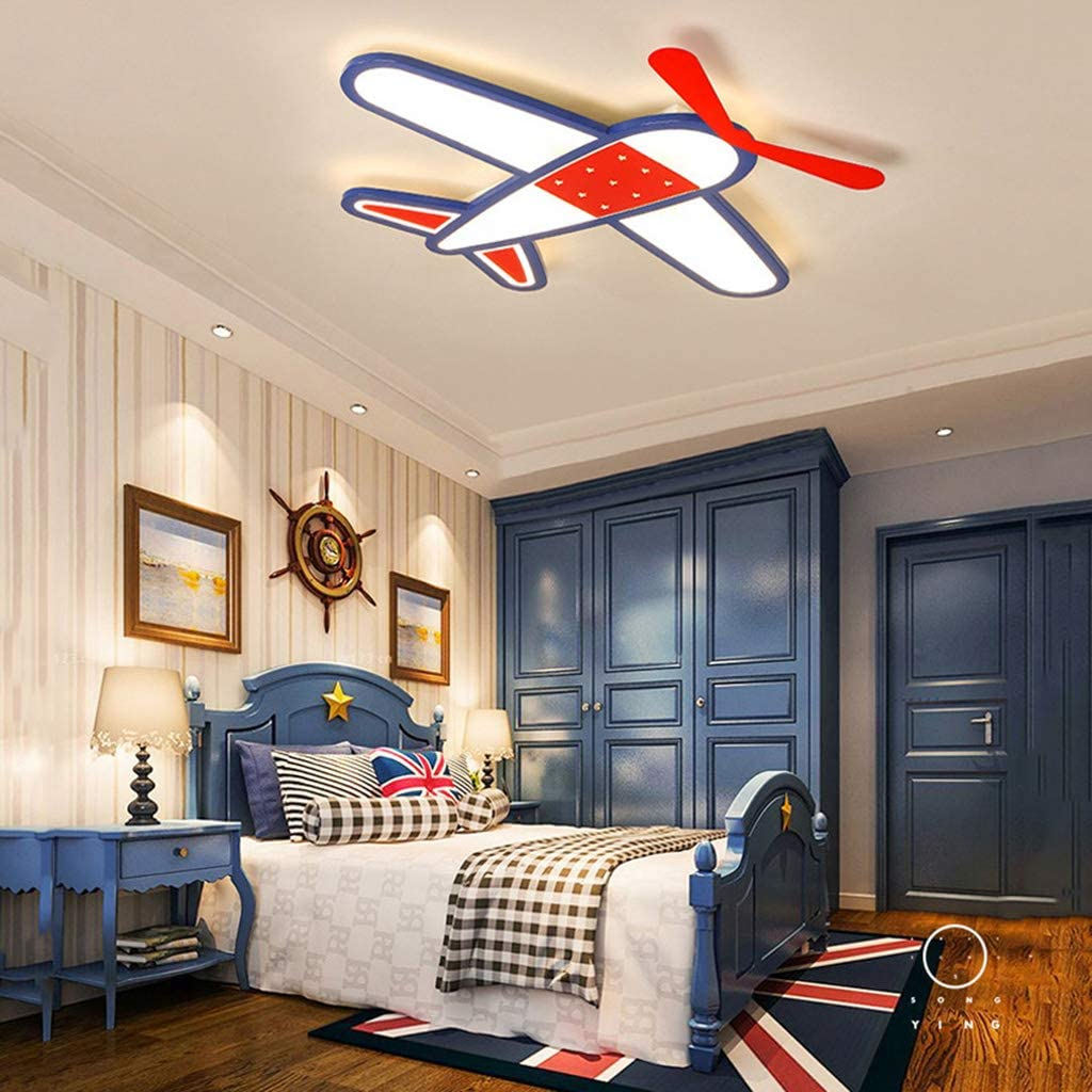 QTQHOME Airplane Shape Finally popular brand Limited time sale Dimmable Led Remote with Co Ceiling Light