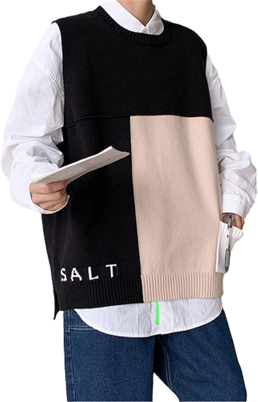 Autumn Winter Sweaters Vest Mens Pullovers Men Loose Jumpers Knitwear Vest Men Korean Casual Men Clothes