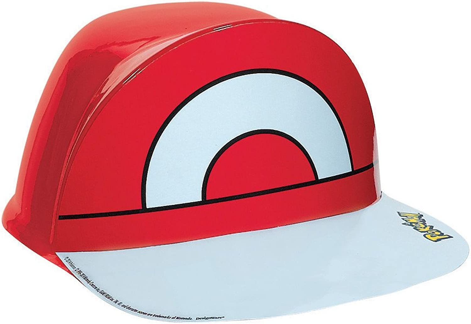 Electrifyingly Cute Pikachu & Friends Birthday Party Ash's Vac Form Hat Accessory, Red , 4  X 10 , Plastic