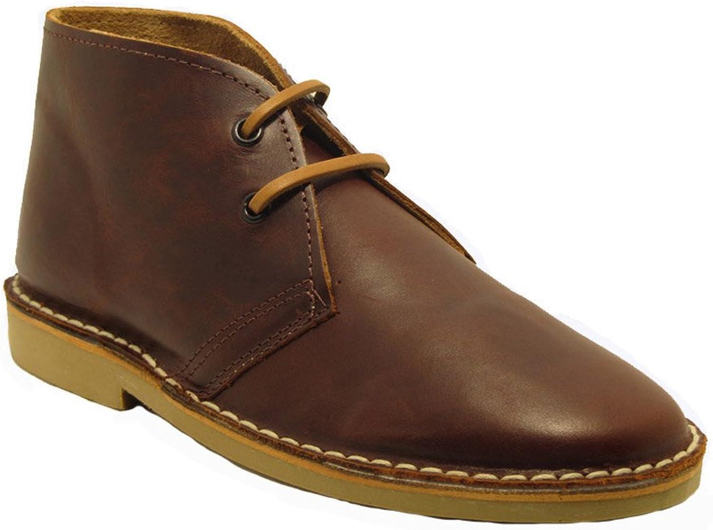 La Auténtica K100FPN - Desert Boot Italian tip Leather, Unisex Adult, Dark Brown napa