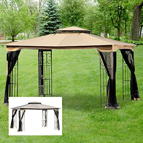 Garden Winds Regency II Gazebo Replacement Canopy Top Cover - RipLock 350